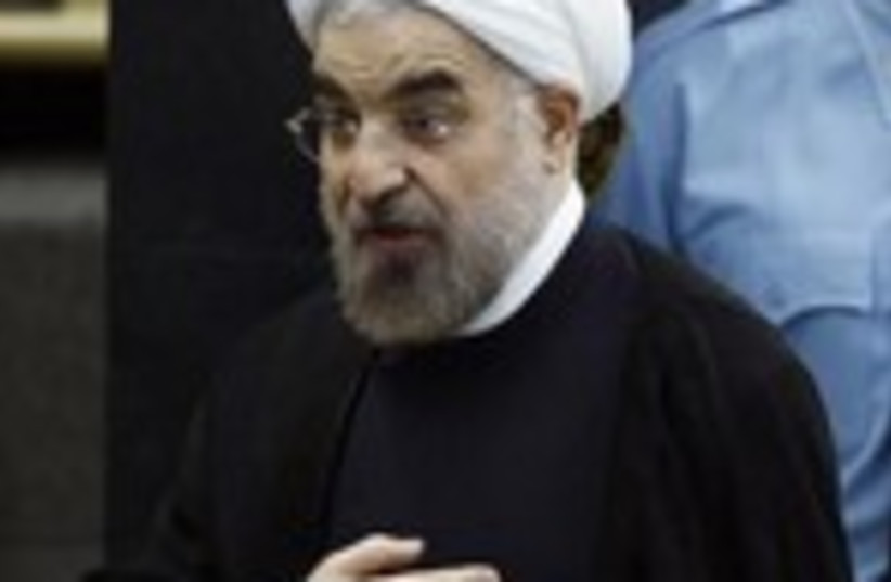 Rouhani at the UN 150 (photo credit: REUTERS/Eduardo Munoz)