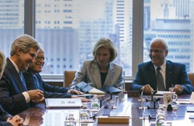 Mideast quartet meeting Sept 2013 370 (photo credit: REUTERS/Brendan McDermid)