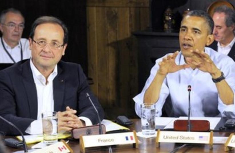 Barack Obama and Francois Hollande 370 (photo credit: REUTERS/Philippe Wojazer)