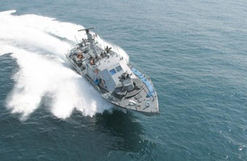 A SUPER DVORA Mark III fast patrol boat 370 (photo credit: Courtesy IAI)