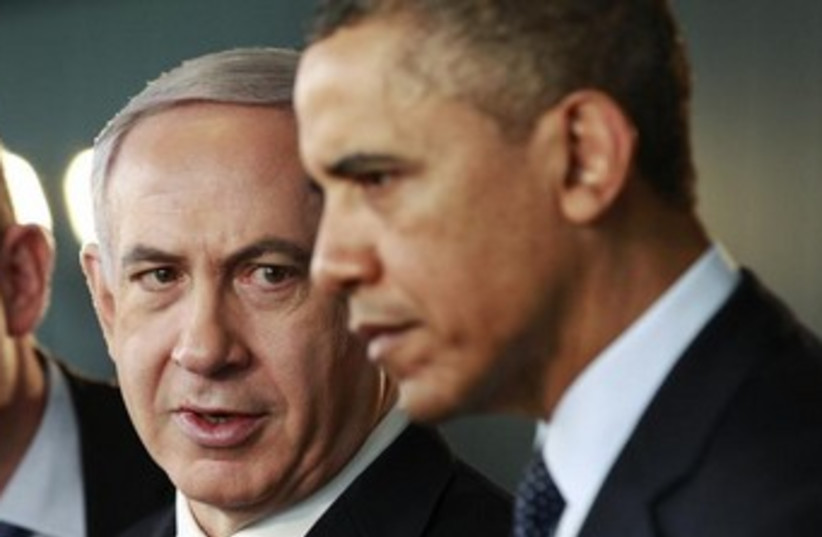 Netanyahu and Obama 370 (photo credit: JASON REED / REUTERS)