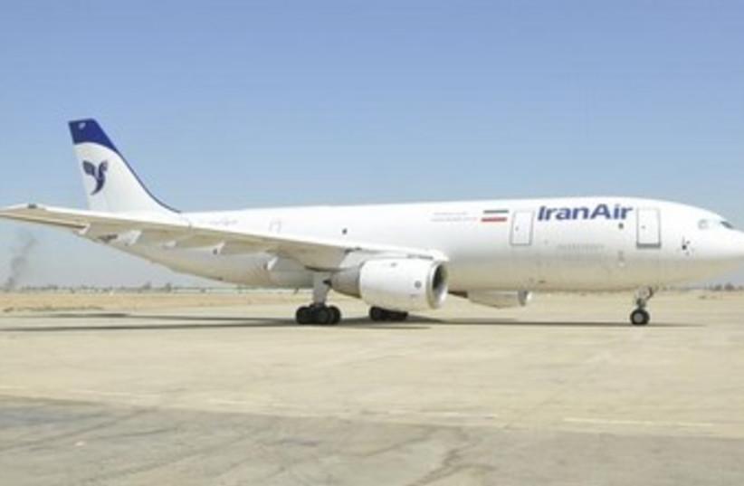 Iranian Air 370 (photo credit: REUTERS/Iraqi Civil Aviation Authority/Handout)