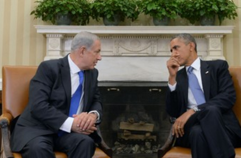 obama and netanyahu chill and talk 370 (photo credit: Courtesy of GPO)