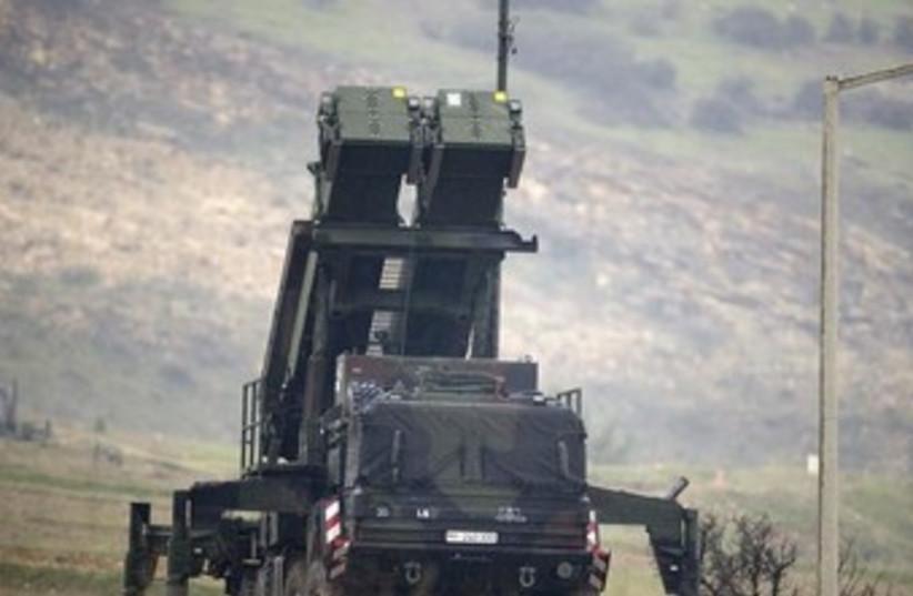 Patriot missile installation on Turkish-Syrian border 370 (photo credit: REUTERS)