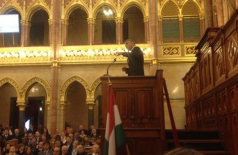 Finance Minister Yair Lapid addresses Hungarian Parliament 3 (photo credit: Courtesy Finance Ministry)