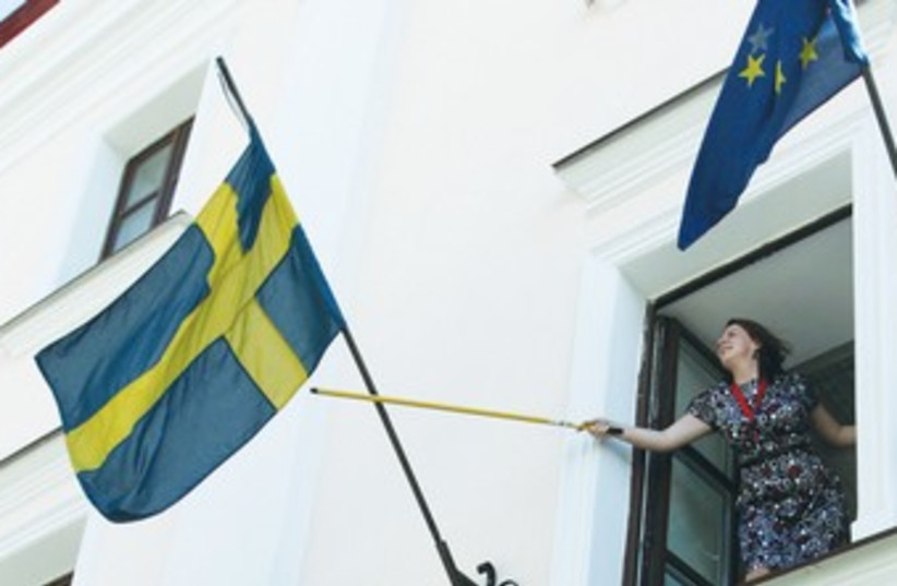 The Swedish flag 370 (photo credit: REUTERS)