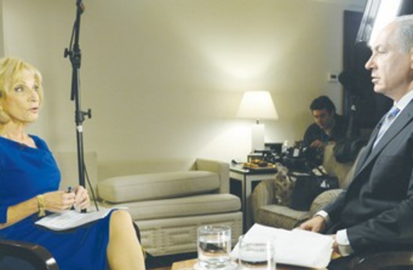 PM Netanyahu with NBC's Andrea Mitchell 370 (photo credit: GPO / Kobi Gideon)