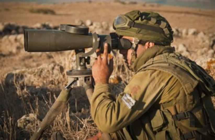 An IDF soldier on the Golan Heights 370 (photo credit: Courtesy IDF)