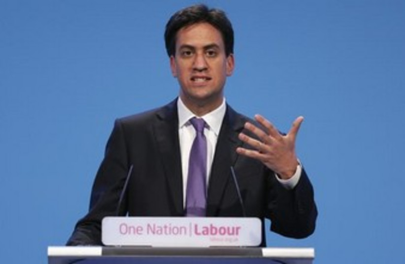 Britain's leader of the opposition Labour party Ed Miliband (photo credit: REUTERS/Stefan Wermuth)