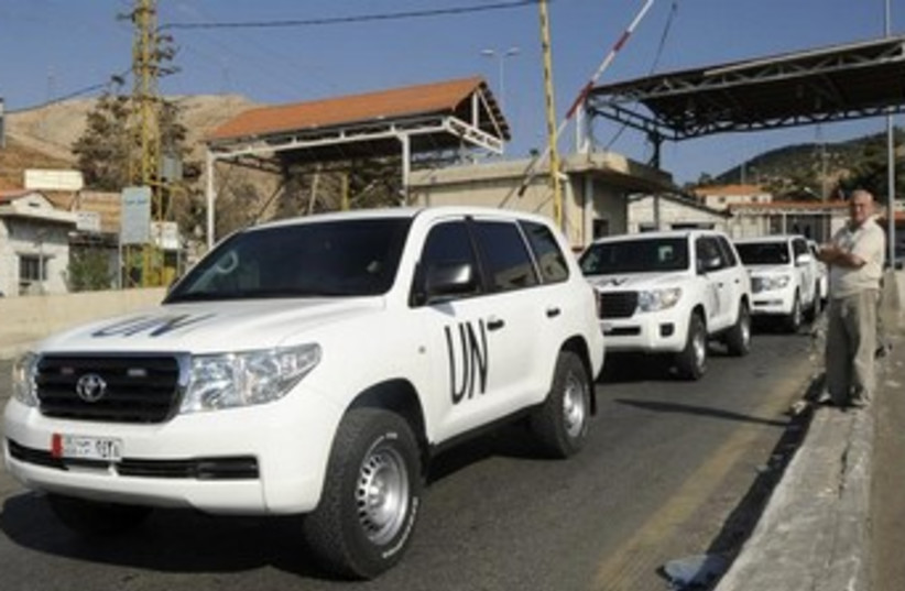 UN chemical weapons inspectors in Syria 370 (photo credit: REUTERS)
