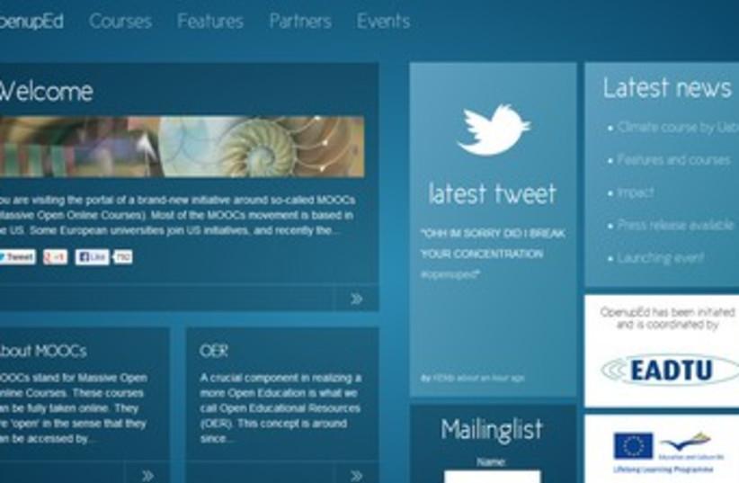 OpenupEd 370 (photo credit: Screenshot)