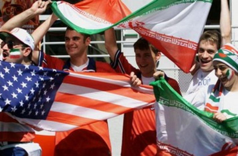 US Iran fans at 1998 World Cup 390 (photo credit: REUTERS)
