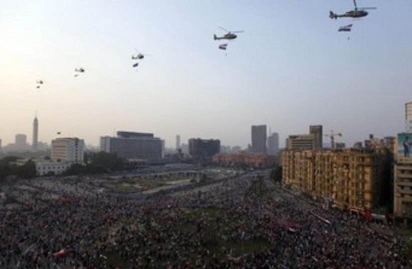 Tahrir Square on Yom Kippur anniversary 370 (photo credit: REUTERS/Mohamed Abd El Ghany)