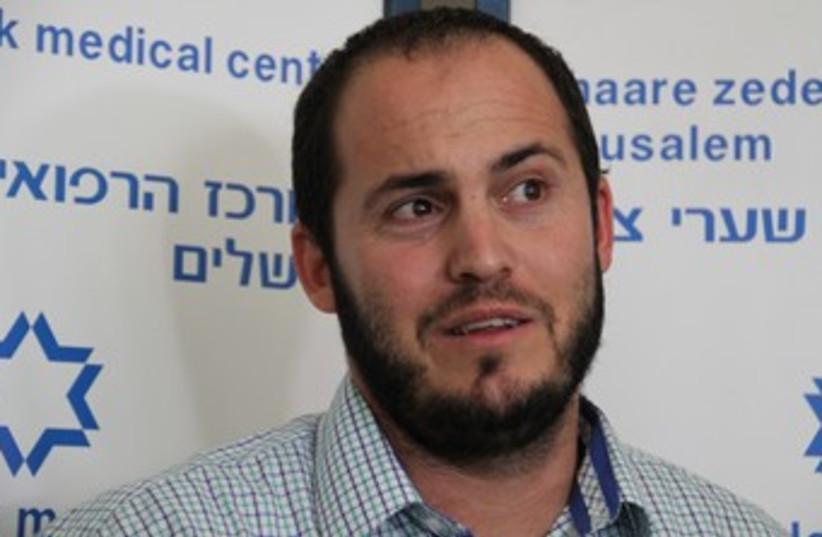 Yisrael Glick, father of injured girl 370 (photo credit: TOVAH LAZAROFF)