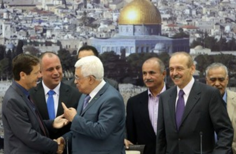 PA President Abbas in Ramallah (photo credit: Marc Israel Sellem/The Jerusalem Post)