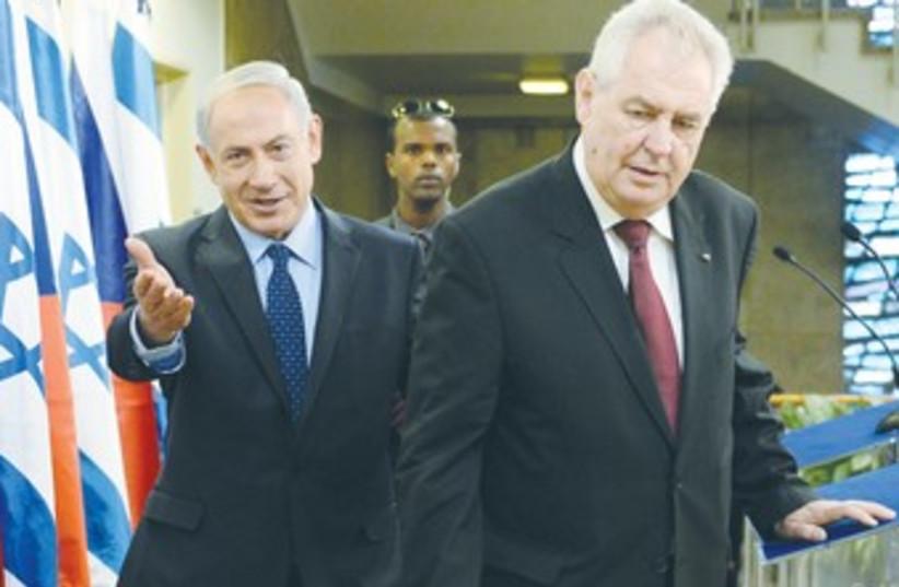 Netanyahu meeting with Czech president 370 (photo credit: GPO)