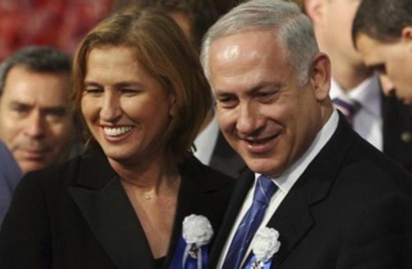 PM and Livni (photo credit: Reuters)