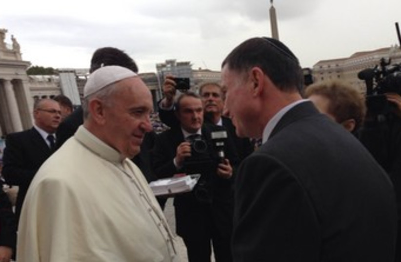 Pope Francis (photo credit: Knesset Speaker's Office )