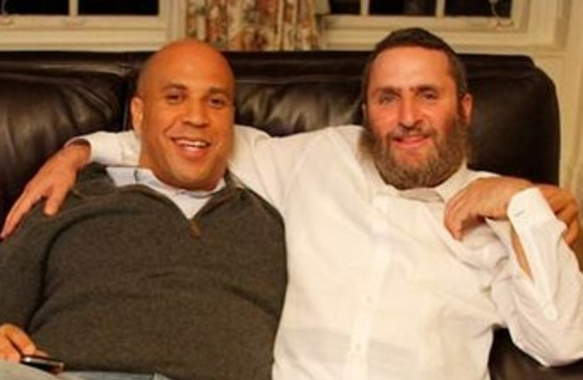 Cory Booker and Shmuley Boteach 370 (photo credit: Courtesy)