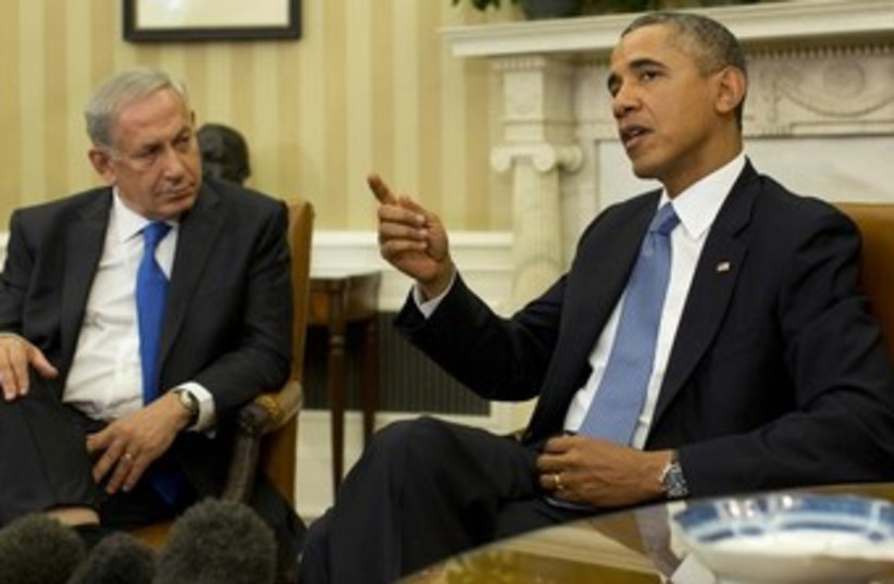 Netanyahu and Obama meeting in Washington 370 (photo credit: REUTERS/Jason Reed )