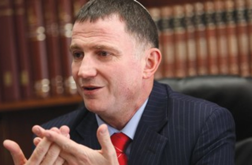 Yuli Edelstein 370 (photo credit: Marc Israel Sellem/The Jerusalem Post)