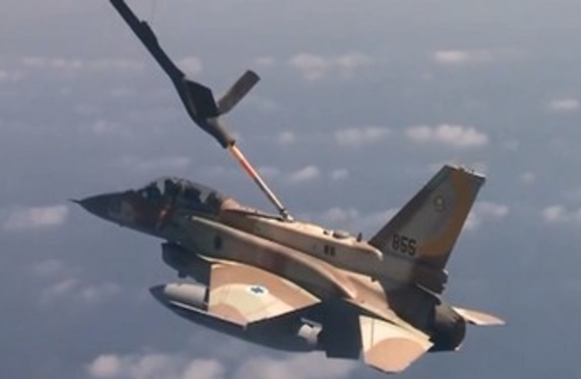 IAF long range mission drill 370 (photo credit: Courtesy IDF)