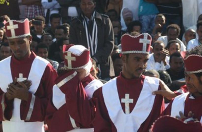 Eritrean memorial service lampedusa 370 (photo credit: Ben Hartman)