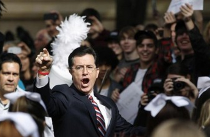 Actor and television host Stephen Colbert  (photo credit: REUTERS)