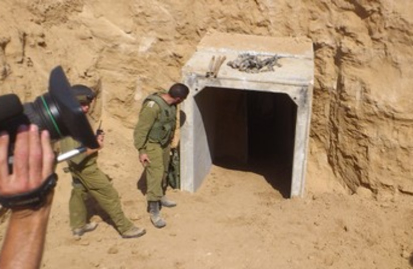tunnel from gaza to israel 370 (photo credit: Yaakov Lappin)