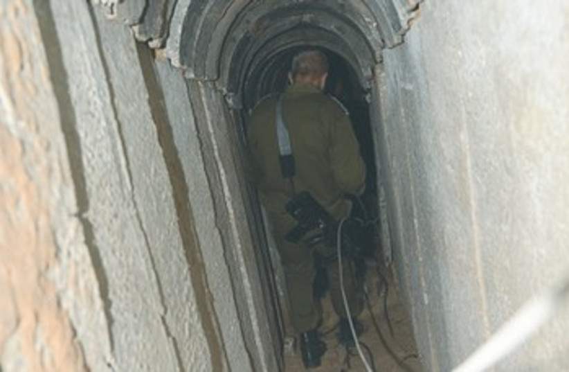 Tunnel leading from Gaza to Israel 370 (photo credit: Yaakov Lappin)