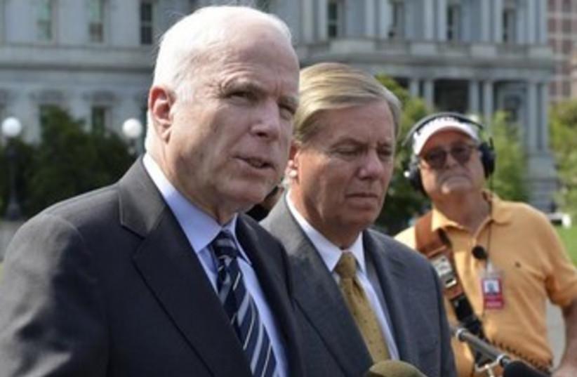 U.S. Senator John McCain (photo credit: Reuters)