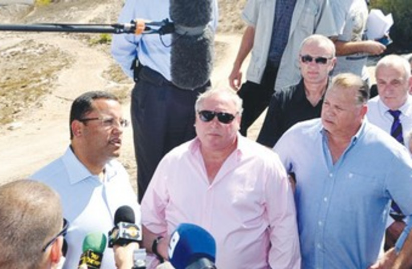 Jerusalem mayoral hopeful Moshe Lion at Mt. Scopus 370 (photo credit: Courtesy David Katz)