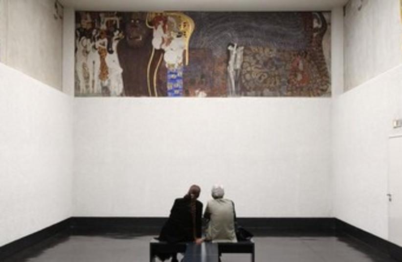Gustav Klimt's Beethoven Frieze 370 (photo credit: REUTERS/Heinz-Peter Bader)