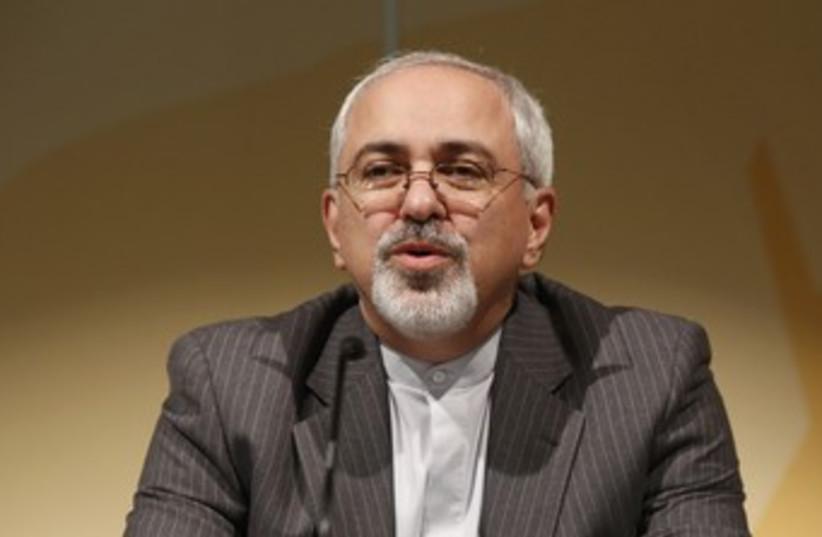 Irnaian FM Zarif at Geneva talks  (photo credit: REUTERS)