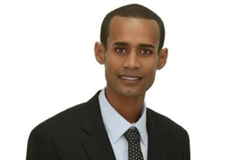 Candidate in Kiryat Malachi elections Awake Mengistu 370 (photo credit: Courtesy)
