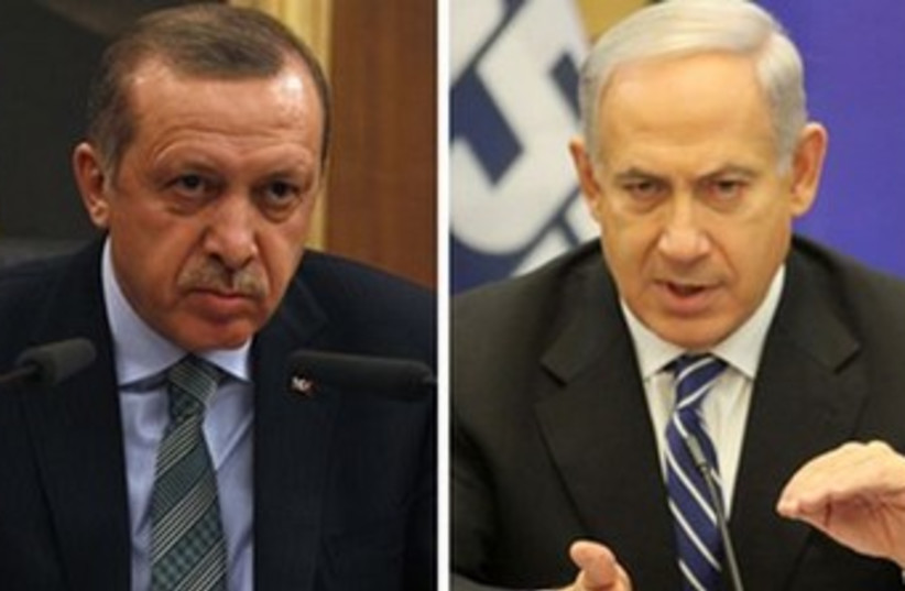 Erdogan and Netanyahu split screen 370 (photo credit: REUTERS)