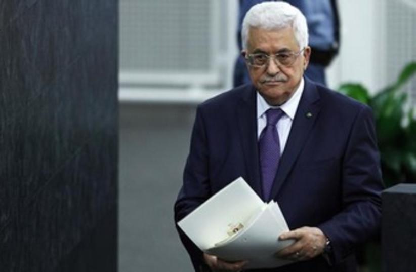 Mahmoud Abbas at the UN 370 (photo credit: REUTERS/Eduardo Munoz )