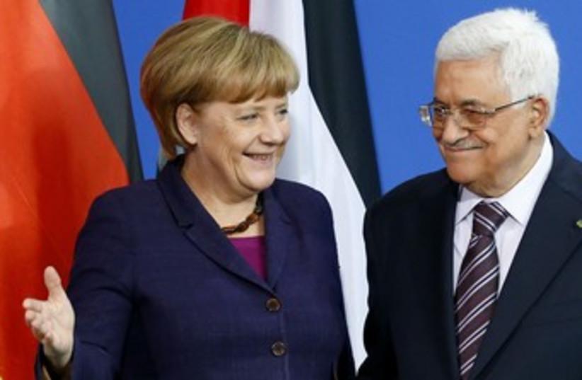 Abbas and Merkel 370 (photo credit: REUTERS)