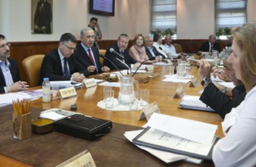 Cabinet meeting 370 (photo credit: Marc Israel Sellem/The Jerusalem Post)