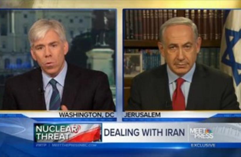 Netanyahu on NBC's Meet the Press 370 (photo credit: Screenshot)