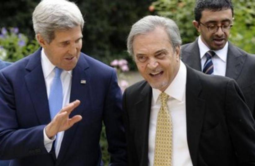 US Sec. of State John Kerry and Saudi FM Saud al Faisal 370 (photo credit: REUTERS)