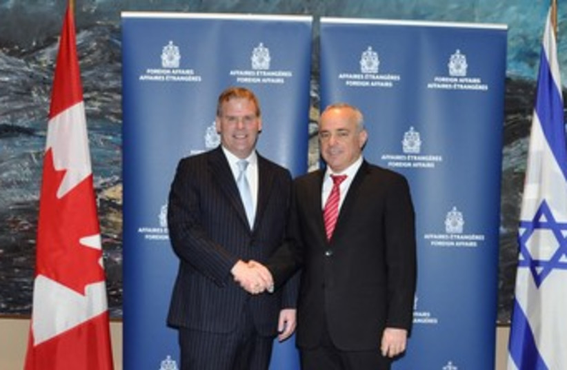 Steinitz and Canadian FM (photo credit: Courtesy Canadian Ministry of Foreign Affairs)
