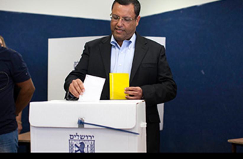 Moshe Lion Jerusalem elections 370 (photo credit: Marc Israel Sellem)
