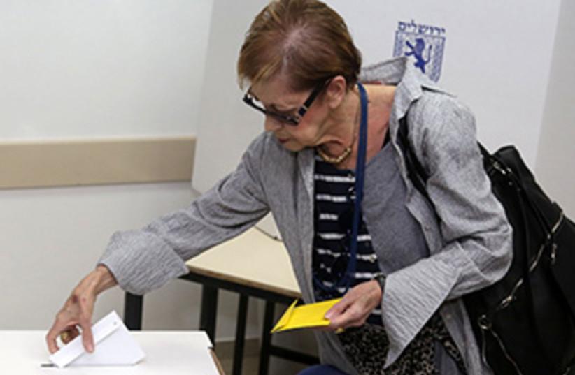 Voter Jerusalem elections 2013 370 (photo credit: Marc Israel Sellem)