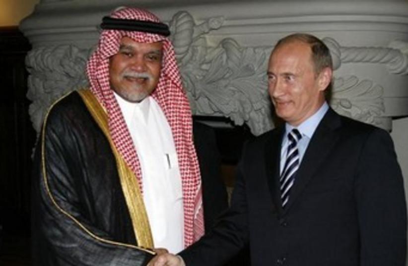Saudi Prince Bandar bin Sultan and Russia's Putin 370 (photo credit: RUSSIA/RIA Novosti/Alexei Druzhinin/Pool)
