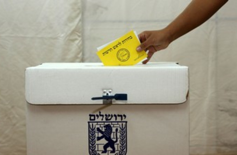 Jerusalem municipal election 370 (photo credit: Marc Israel Sellem/The Jerusalem Post)