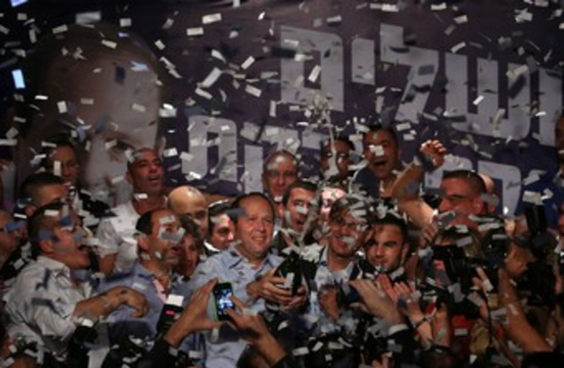 Barkat at elecion party 370 (photo credit: Marc Israel Sellem/The Jerusalem Post)