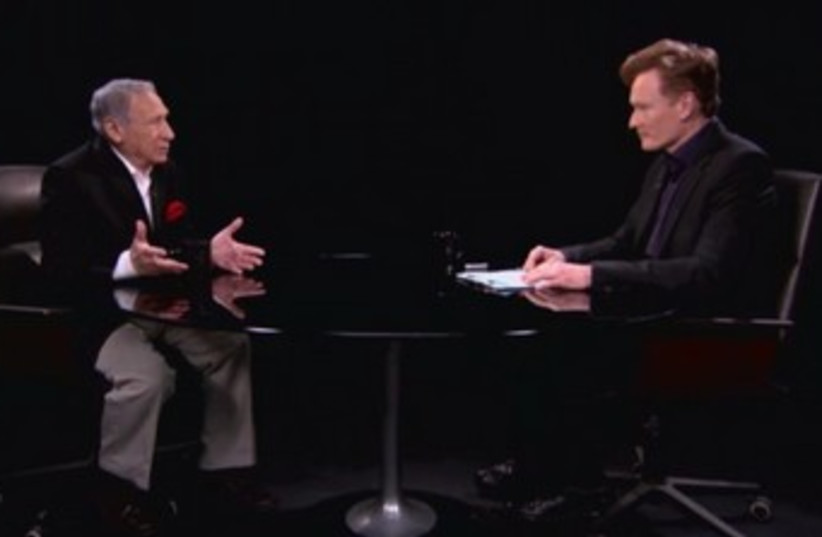 Mel Brooks talks to Conan O'Brien 390 (photo credit: You Tube screenshot)