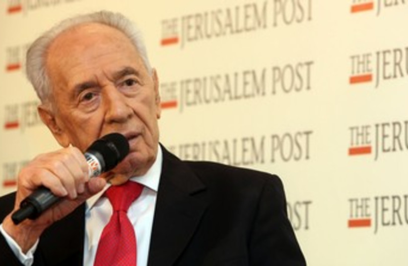 peres at the jpost conference 370 (photo credit: Marc Israel Sellem/The Jerusalem Post)