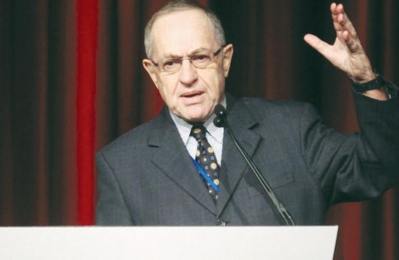Alan Dershowitz 521 (photo credit: Marc Israel Sellem/ The Jerusalem Post)